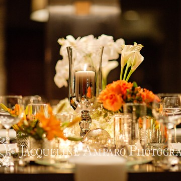 Photograph of Floral design at a Private Dinner Party.